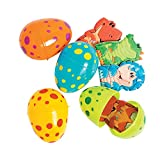Fun Express Dinosaur Dino Finger Puppet Filled Easter Eggs - 12 Pieces