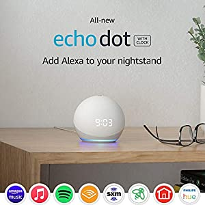 Best Epic Trends 51TkwwLL-uL._SS300_ All-new Echo Dot (4th Gen) | Smart speaker with clock and Alexa | Glacier White