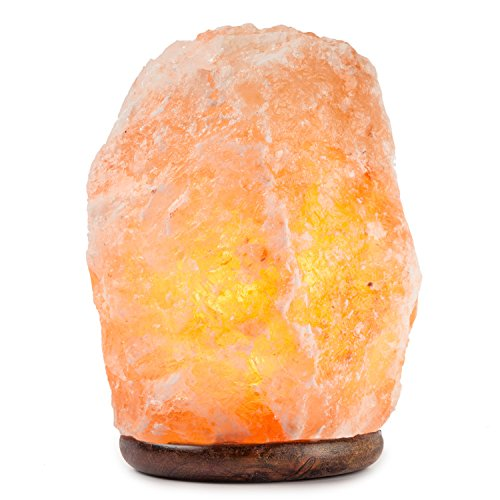 HemingWeigh Natural Himalayan Rock Salt Lamp 7-13 lbs with Wood Base, Electric Wire & Bulb by HemingWeigh (Image #3)