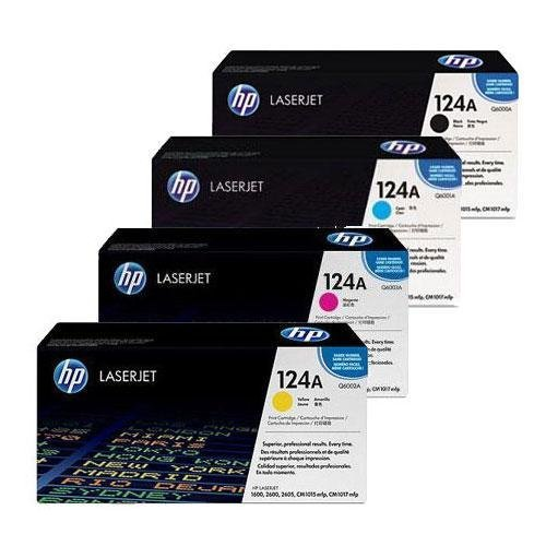 Toner Eagle Brand Four Pack Compatible Q6000A, Q6001A, Q6002A, Q6003A Toner Cartridges for Use in Hewlett Packard 1600/2600/2605 Color Laser Printers, Office Central