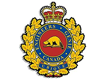 Canadian Military Engineering Branch Crest Shaped Sticker