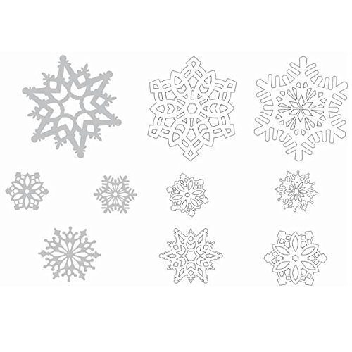 Christmas Snowflake Paper Cutouts Mega Value Pack, 30 Ct. | Party Decoration