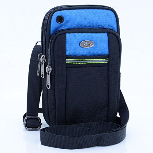 "U-TIMES Casual Water Resistant Oxford Waist Pouch 6.5"" Crossbody Shoulder Cell Phone Bag for iPhone 6/6S,6Plus/6S Plus,Samsung Note 5,Note 4,Galaxy S7,S7 Edge"