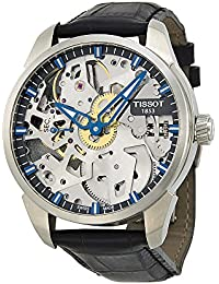 Men's T0704051641100 T-Complication Squelette Analog Display Swiss Mechanical Hand Wind Brushed Stainless Steel watch