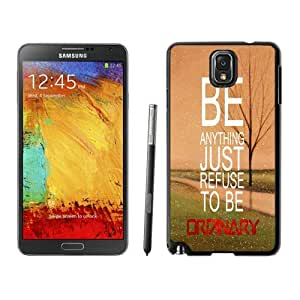 Elegant Samsung Galaxy Note 3 Case Durable Soft Silicone Black Phone Cover Refuse To Be Ordinary Inspirational Hipster Quote