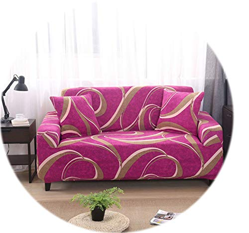 Spandex Elastic Stretch Geometric Printing Sectional Sofa Cover Protective Slipcovers All-Inclusive Couch Case Cover Living Room,Color 17,1-Seat 75-140cm (Couch Sectional Toronto)