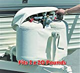 RV Propane Tank Cover for 2 x 20 Pounds Cylinder Weatherproof with Easy Open Close Zipper Heavy Duty Strong and Durable, RV and Outdoor Accessories & Free Ebook by Stock4All
