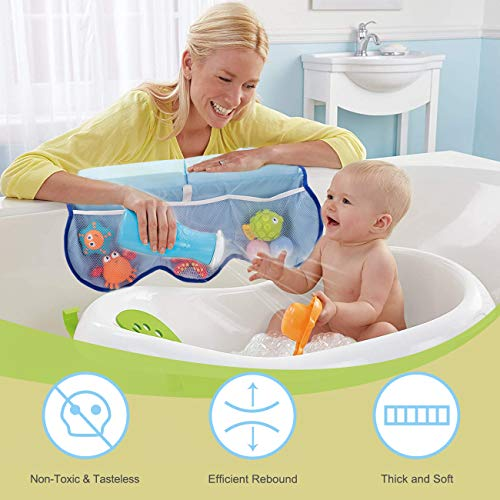 51Tkz9SkoHL - COOLBEBE Bath Kneeler And Elbow Rest Set With Octopus Pattern – Extra Thick Baby Bath Kneeling Pad Mat Cushion With Arm Support And Pockets Organizer