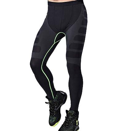 Amazon.com: FANGTION Man Sports Yoga Pants Elastic Tights ...