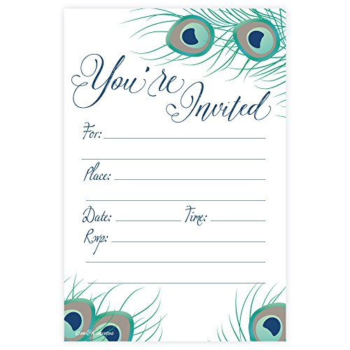 Elegant Peacock Fill Invitations Engagement product image