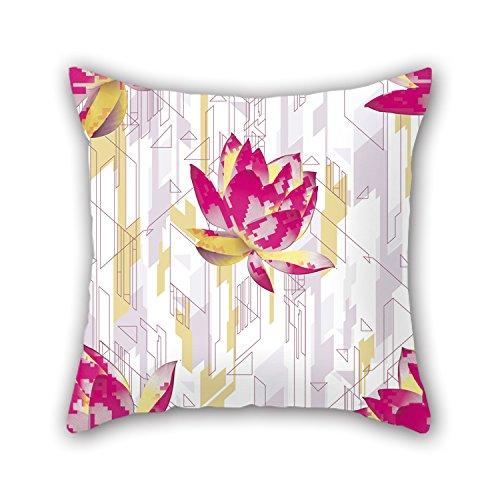 NICEPLW Flower Pillowcover ,best For Teens Girls,chair,adults,sofa,divan,christmas 16 X 16