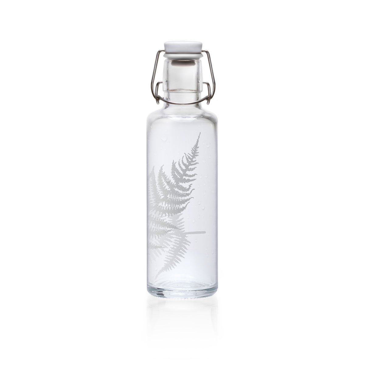 (1 Schluck Sommer) - Soulbottle 0.6 L Drinking Glass Bottle; Assorted Designs, Made in Germany, Vegan, Plastic Free Glass Water Bottle, Glass Bottle, 1 Schluck Sommer soulproducts GmbH
