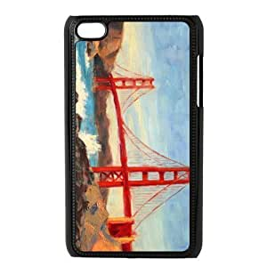 Custom Golden Gate Bridge Design Plastic Case Protector For Ipod Touch 4 4th Generation