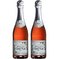 Tautila Espumoso Rosado Non-Alcoholic Sparkling Rose Wine 750ml (2 Bottles)