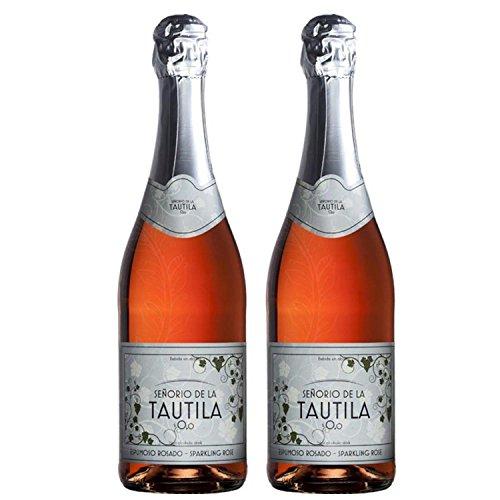 Tautila Espumoso Rosado Non-Alcoholic Sparkling Rose Wine 750ml (2 (Rose Wine Bottle)
