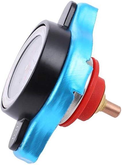 Bouchon de radiateur Augmenter la pression Bouchon de radiateur Thermostat Cache-bouchon de radiateur avec jauge de temp/érature deau Couvercle 0.9bar//1.1bar//1.3bar