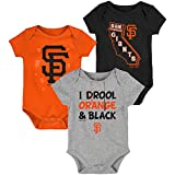 "MLB Newborn Infants""Big Time Fan"" 3 Piece Bodysuit Creeper Set (6/9 Months, San Francisco Giants)"