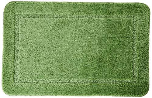 Tapete Poliéster Avulso Para Banheiro Caricia Jolitex Verde 45x70cm