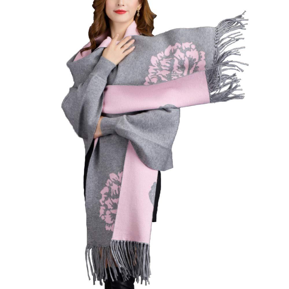 Grey LIULIFE Cape Poncho Spring Autumn Ladies Knit Cloak Fringe Shawl Scarf Dualuse with Sleeves Fashion Coat