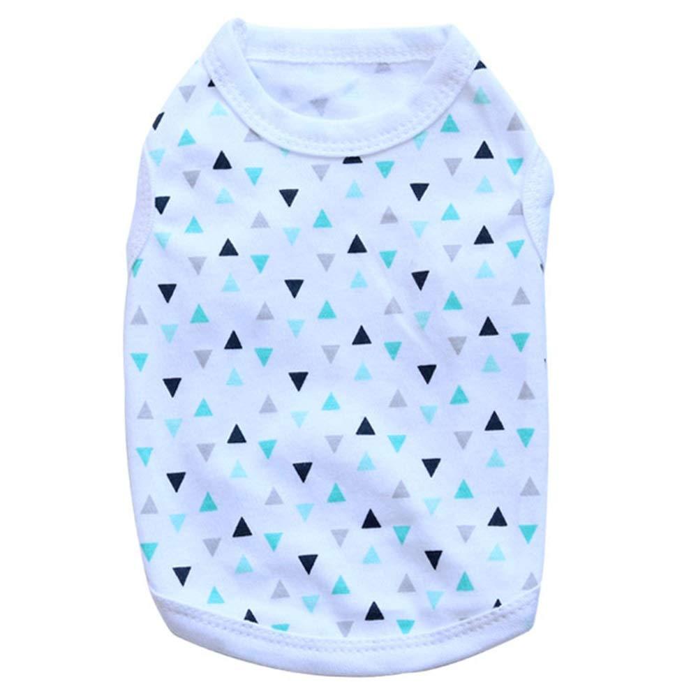 2 L 2 L Huayue Dog Clothing Cotton Jersey Pet Vest The Dog Vest (color   2, Size   L)