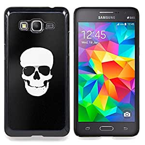 - White Black Flag Pirate Skull Death - - Snap-On Rugged Hard Cover Case Funny HouseFOR Samsung Galaxy Grand Prime G530H G5308