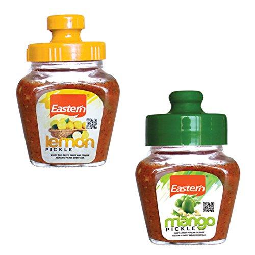 Eastern Pickles Combo - Lemon Pickle (300gms), Mango Pickle (300gms) - Pack of 2