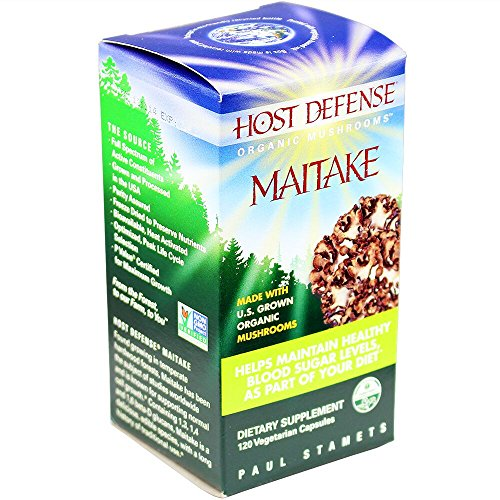 Host Defense - Maitake Capsules, Mushroom Support for Blood Sugar, 120 Count (FFP)
