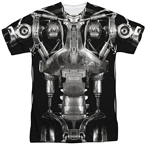 [Terminator - Endoskeleton Costume T-Shirt Size XL] (Cameron Terminator Costume)
