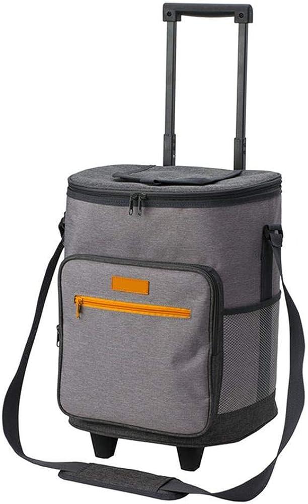 グレー旅行食器バッグトロリー断熱バッグアイスバッグランチバッグ車の断熱バッグキャンプ