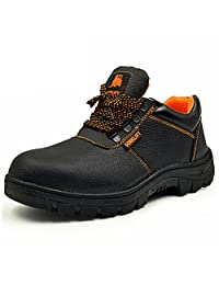 JY FASHION Unisex Lace up Working Safety Shoes