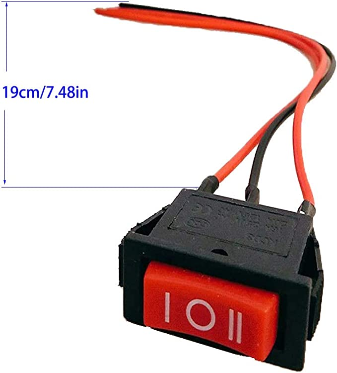 EIN//AUS//EIN SPDT,rund Kippschalter, Mini-Bootswippschalter Auto Auto Bootswippschalter 250 V//10 A RUNCCI-YUN 12Pcs Vorverkabelt wippschalter 3 polig 125 V//12 A