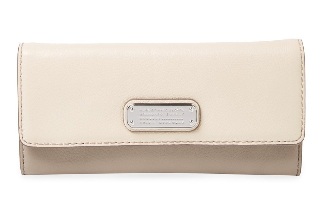 Marc by Marc Jacobs New Q Leather Continental Wallet , Light Sand Multi