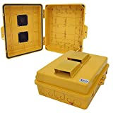 Altelix Vented Yellow NEMA Enclosure 12'' x 8'' x 4'' Inside Space Polycarbonate + ABS Weatherproof High Visibility NEMA Box