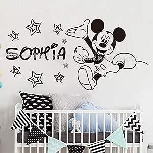 TYLPK Nombre personalizado de Minnie Mickey Mouse estrellas ...