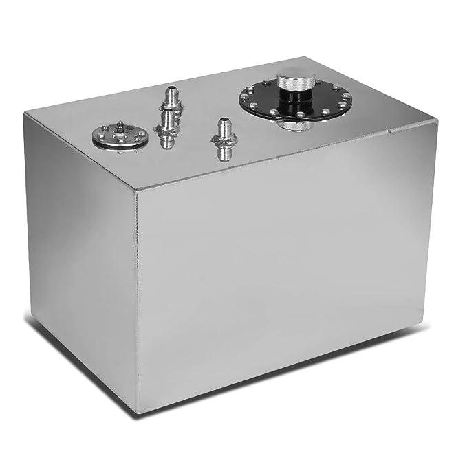 DNAMotoring ALU-FT-B-TF-12G-BK Aluminum Top-Feed Fuel Cell Gas Tank 12 gal
