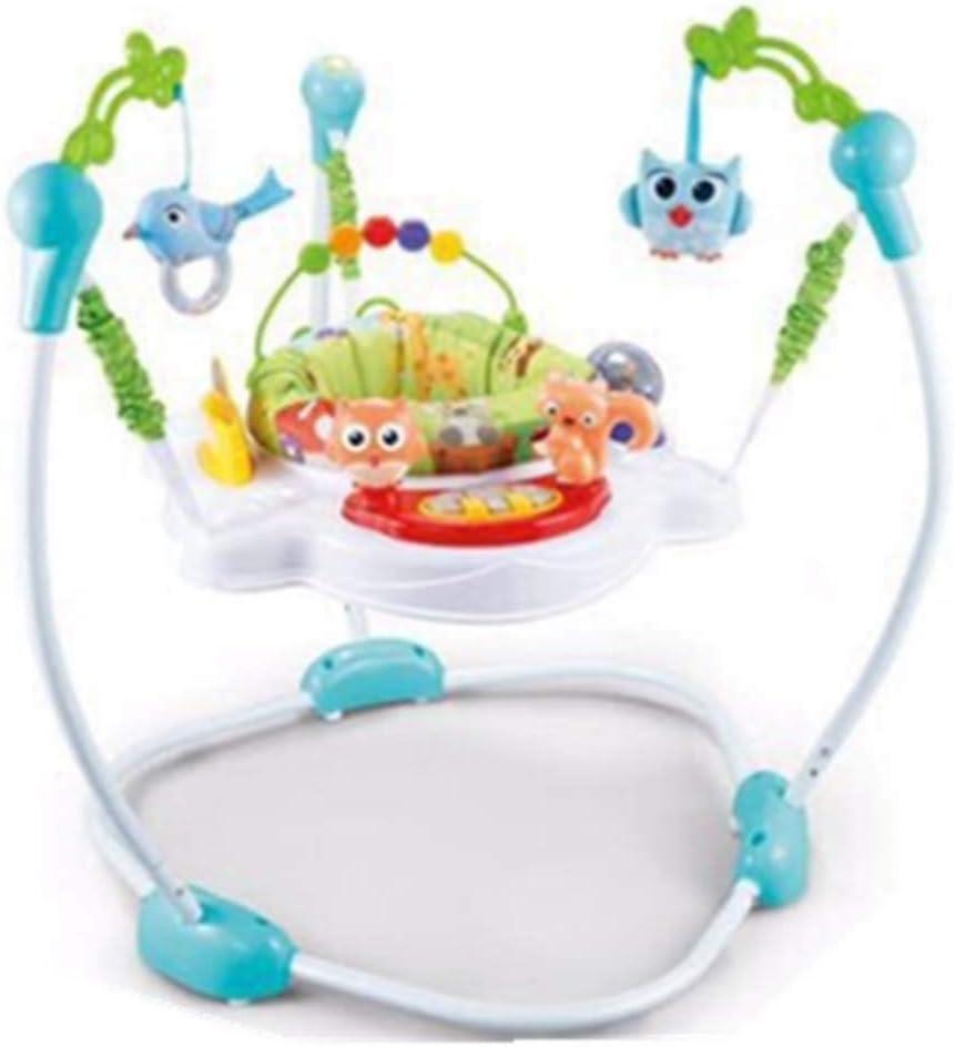 ZWQ kids Tropical Rainforest Jumperoo, Saltador de Centro de Actividades para bebés recién Nacidos con música,B