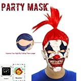 Monstleo Latex Rubber Clown Head Mask Halloween Party Costume Decorations