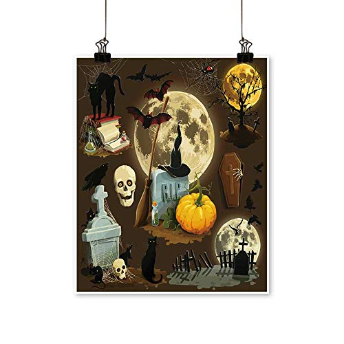 painting-home Canvas Prints Wall Art Clip Art s for Halloween Celebration Artwork for Wall Decor,12