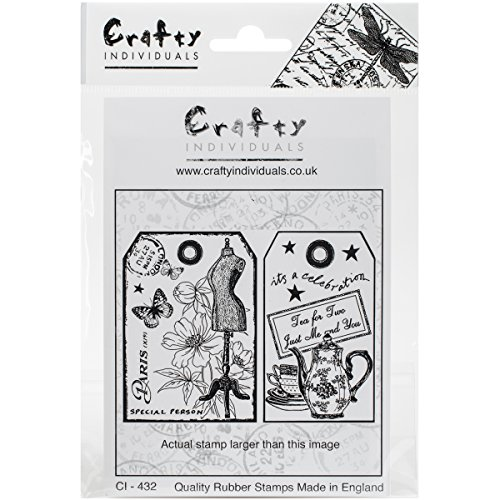 Crafty Individuals Unmounted Rubber Stamp Its a Womans World 4.75 x 7