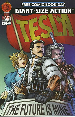 (Red Giant SDCC Comic-Con 2014 Free Comic Book Day Comic Books, including Tesla, Wayward Sons, Magika, The First Daughter, Pandora's Blogs, Duel Identity, Shadow Children & Darchon in Original Plastic)
