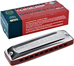 ORCHESTRA S Session Steel Harmonica Key of G. The ORCHESTRA S Session Steel Harmonica is a 10-hole, solo-tuned harmonica (orchestra-tuning). As with the chromatic harmonica, all notes from the major scale are available throughout a two-and-a-...