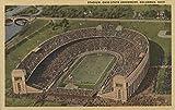 Columbus, Ohio - Ohio State University Stadium from Air - Vintage Halftone (9x12 Art Print, Wall Decor Travel Poster)