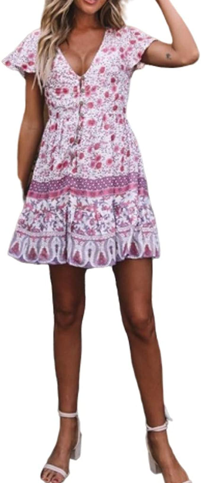 Sexy Kleid Kurz Kleid Kleider T Shirt Sommerkleid Damen Sommer