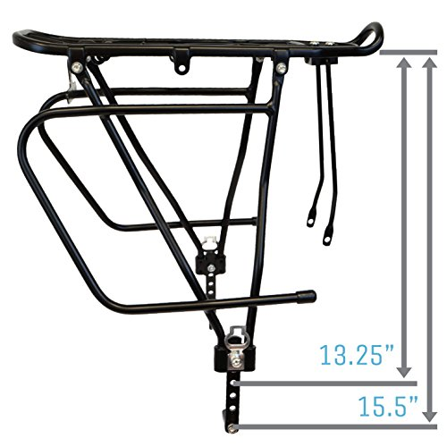 Lumintrail Bicycle Rear Frame Mounted Cargo Rack for Disc Bikes Height Adjustable Commuter Carrier by Lumintrail (Image #8)