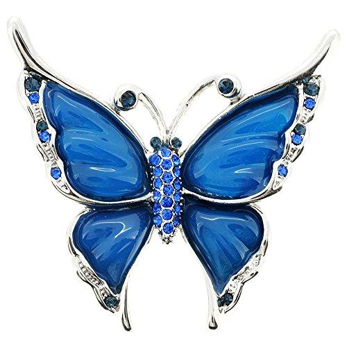 Blue Butterfly Pin - Blue Butterfly Brooch/Pendant