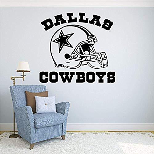 Wall Vinyl Decal Dallas Cowboys Football Logo Sport Interior Vinyl Decor Sticker Home Art Print TT9607 ()
