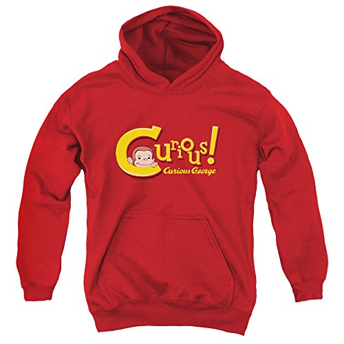 2Bhip Curious George Monkey Movie TVShow Childrens Book Curious Big Boys Youth Hoodie Red