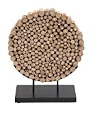 Deco 79 Teak Wood Round Decor, 19 by 24-Inch Review