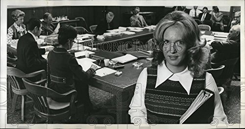 Voting Members (1972 Press Photo Elizabeth Waletich, Oregon's first student voting board member)