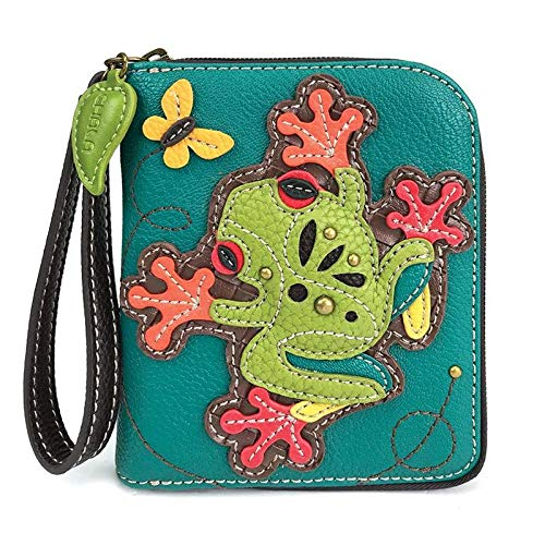 CHALA Pal Zipper Wallet Collection (Frog - Turquoise) from CHALA
